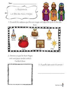 Le 6 janvier, ce sera la fête des rois. J'aime beaucoup profiter de cette journée pour faire un peu d'ECR. Je leur lis l'histoire des Rois... French Class, French Lessons, Cycle 3, Teaching French, Edd, Epiphany, Christmas Crafts, Preschool, Religion