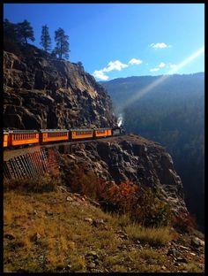 Try taking the train from Denver over the Rockies to Glenwood Springs and back! #travel #VisitGlenwood http://www.visitglenwood.com/
