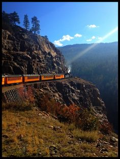 Try taking the train from Denver over the Rockies to Glenwood Springs and back! #travel