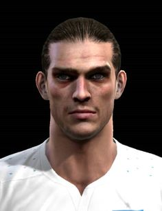 Andy Carroll face for Pro Evolution Soccer 2012