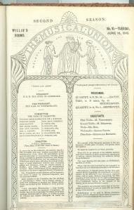 Programme for John Ella's Musical Union
