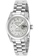 What to give to your girlfriend when she is really angry: Rolex 179296 GBDDP Women's Datejust Automatic White Diamond Silver Textured Dial Presiden