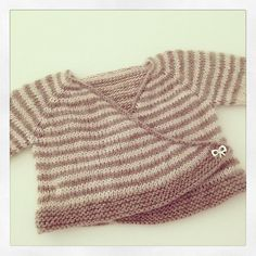 Striped baby easter cardigan by Schnekenstrick designs - download FREE at LoveKnitting!