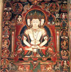 Sarvavid Vairocana, Tabo Monastery, 16th c. wall Painting