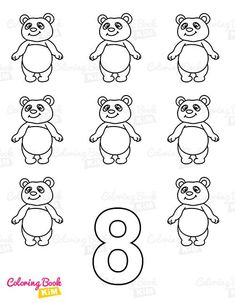 Coloring book with letters, numerals and shapes for little kids. Simple, easy-to-color drawings with bold lines. Alphabet with upper and lower case letters, numbers from 1 to 10 and funny shapes. Active coloring book that improves concentration and motor skills of a child's little hands. Panda Coloring Pages, Coloring Pages For Kids, Coloring Books, Infant Activities, Book Activities, Colorful Drawings, Easy Drawings, Alphabet, Toddler Coloring Book
