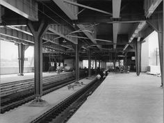 Construction of Circular Quay Railway Station in Sydney (year unknown). Under Construction, Stairs, Street View, Australia, History, Photography, Life, Christmas, Historia