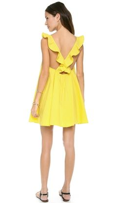 Pretty yellow sundress