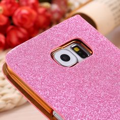 For Samsung S6 Edge Case Bling Diamond Buckle Shiny Glitter Leather Cover For Samsung Galaxy S6. Click visit to buy #RhinestoneCase #rhinestone #case
