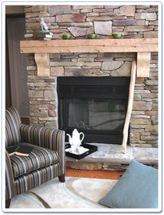 fireplace + mantel