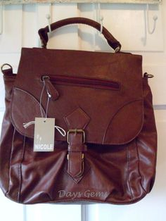 e87553fddb Brown Faux Leather Handbag medium sized in Clothes