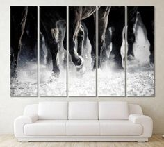 Horse Wall Art Horse Racing Paintings On Canvas Horse Race Animal Beautiful Horses Running Landscape Abstract Horces Home Decor Horses Print by ArtWog Horse Posters, Horse Wall Art, Canvas Art, Canvas Prints, Oversized Wall Art, Horse Print, Office Wall Decor, Pigment Ink, Horse Racing