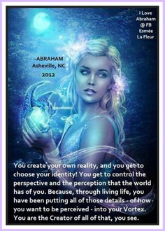 You are the creator of ALL that... *Abraham-Hicks Quotes (AHQ1139)