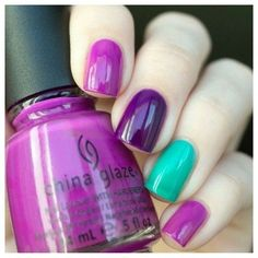 Желе Are You Jelly? , Creative Fantasy и Keepin' it Teal. Gorgeous Nails, Love Nails, How To Do Nails, Fun Nails, Purple And Pink Nails, Summer Nails, Spring Nails, Creative Nails, Trendy Nails