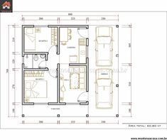 projetos de casas pequenas com 2 quartos - Pesquisa Google