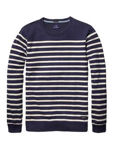 Authentic Striped Sweater > Mens Clothing > Sweaters at Scotch & Soda $89