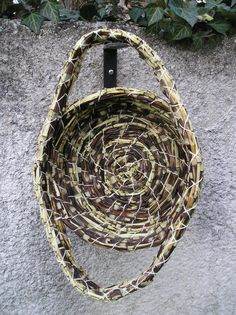 Zina's basket made of Horsetail (Equisetum). 100% natural!