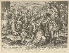 Verzoening tussen de Sabijnen en de Romeinen, Pieter Jalhea Furnius, Jan van der Straet, Karel Collaert, 1573