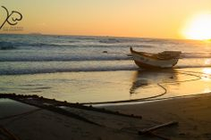 Subsistence Fishing In South Africa, Durban Sunrise with boat
