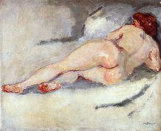"""Kees van Dongen    Dutch      1877 - 1968    """"Reclining Nude"""""""