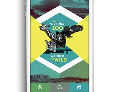 Virginia Zoo App Design on Behance Zoo Project, Senior Project, Zoo Tickets, Information Design, School Projects, Continents, App Design, New Work, Virginia