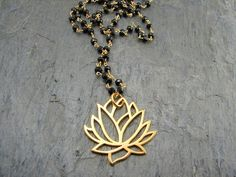 Mangalsutra - Awakening Large Lotus Necklace- Spinnel Gemstones