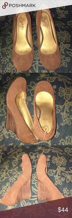 Seychelles brown suede wedges Gorgeous Seychelles. Worn once. These will go with just about every outfit! Comfortable and stylish! Seychelles Shoes Wedges
