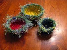 Yarn & Jute Nesting Baskets by TundraTalents on Etsy, $26.00