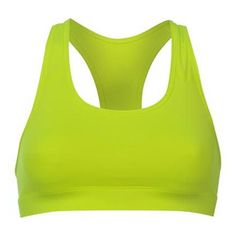 The Lime Green racer back sports bra has been designed to offer optimum coverage to the wearers