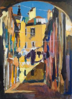 This beautiful impressionistic acrylic townscape is the final demonstration in Will Kemp's course on painting townscapes in acrylics, available now ArtTutor.com
