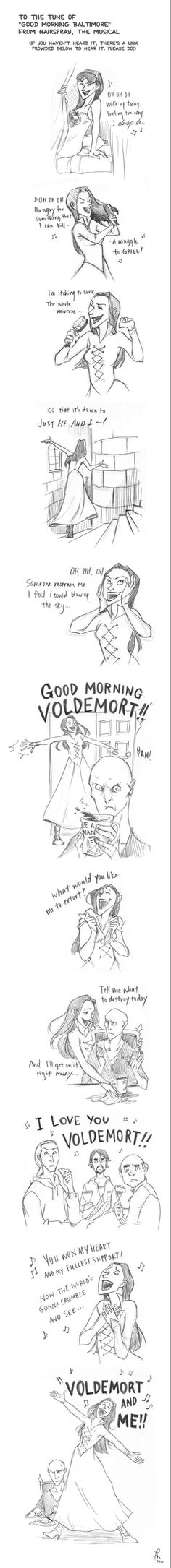 Good Morning Voldemort by flominowa on @DeviantArt