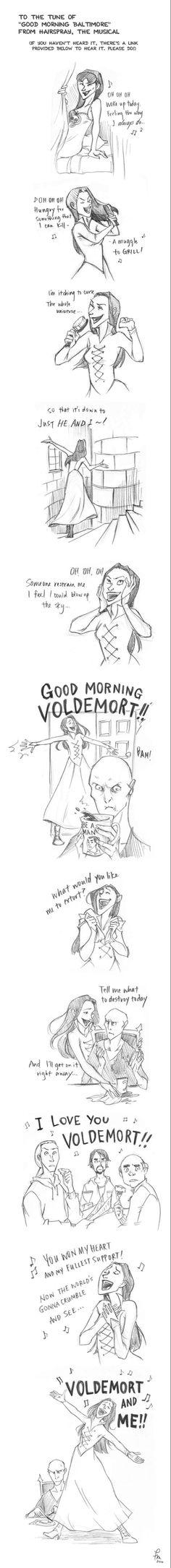 Good Morning Voldemort by flominowa on @DeviantArt