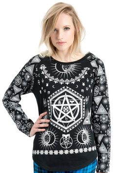 Occultist Gothic Sweatshirt | RK Edge, Home of Psychobilly Fashion Clothing