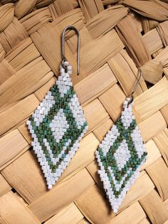 Beadwork Earrings. Native American Style Earrings. by SoulLovin