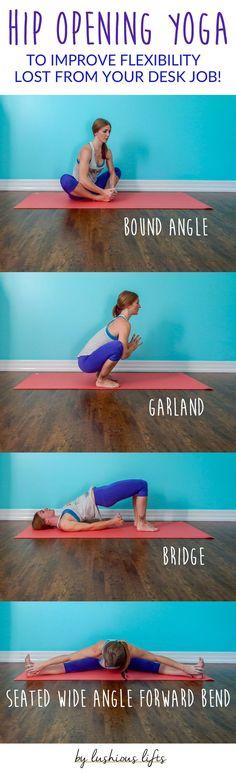 Hip Opening Yoga Poses to Improve Flexibility || lushiousLIFTS.com