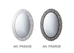 Globo Paestum Speil m/ramme 950x710 mm, Sølv