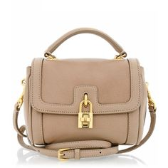 DOLCE & GABBANA BONITA Beige Mini Bag ($1,030) ❤ liked on Polyvore featuring bags, handbags, shoulder bags, purses, bolsas, accessories, leather purses, purse shoulder bag, mini leather satchel and leather satchel handbags