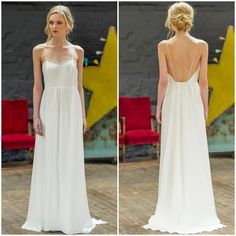 Vous ressemblerez à une déesse dans la robe Olympe de la collection 2015 Oh Oui! Cette robe fine avec son dos nu pourtant simple apporte une touche d'élégance et de classe.