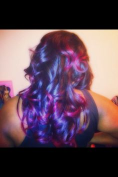 This is the back view (purple & pink ombre sew in)