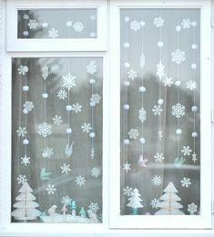 fensterdeko weihnachten weihnachtlich dekorieren weihnachtsdeko ideen