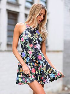 Bloom Loom Reversible Skater Dress (WW 24HR $85AUD / US – LIMITED $68USD) by Black Milk Clothing