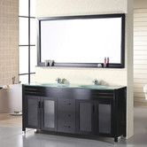 "Found it at Wayfair - Waterfall 61"" Double Bathroom Vanity Set with Mirror"
