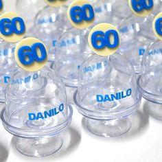Mini Cúpulas personalizadas - festa 60 anos do Danilo