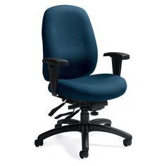 Global Granada Deluxe 1171-3 - Medium back multi-tilter office chair - Imprints - Navy IM76 FREE Shipping in Canada at Ugoburo.ca!