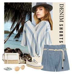 """""""Denim shorts"""" by iojeni ❤ liked on Polyvore featuring L'Agence, Kate Spade, 3.1 Phillip Lim, Lucky Brand, Keds, jeanshorts, denimshorts and cutoffs"""