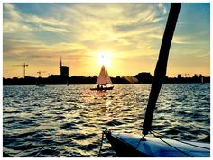 Hamburg Alster Sunset