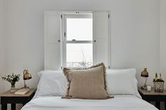 Solid Panels Shutters by Plantation Shutters Ltd Bedroom Shutters, Louvered Shutters, White Shutters, Wooden Shutters Indoor, Wooden Windows, Large Windows, Stainless Steel Hinges, Brass Hinges, Water Lighting