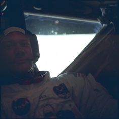 Apollo 11 astronaut Buzz Aldrin inside the lunar module at the Moon's Sea of Tranquility in July 1969. Credit: NASA / Lunar and Planetary Institute