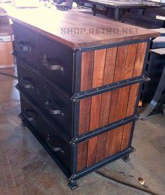 too cool for school!!!  Vintage Industrial Ellis Dresser / French Industrial. $2,575.00, via Etsy.