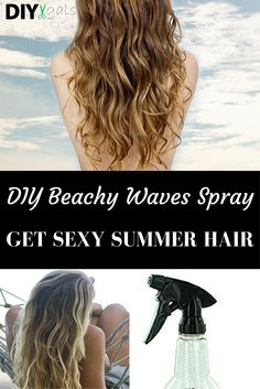 Get Sexy Summer Hair with this DIY Beachy Waves Spray!