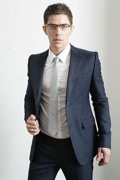 navy suit, grey tie | Suit Idea - John Jess | Pinterest | Weddings